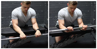 Seated Palms-Down Barbell Wrist Curl