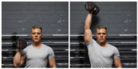 Standing Palm-In One-Arm Dumbbell Press