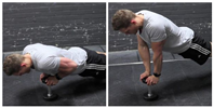Close-Grip Push-Up off of a Dumbbell