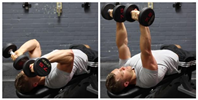 Dumbbell Tricep Extension -Pronated Grip