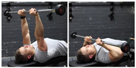 Lying Close-Grip Barbell Triceps Press To Chin