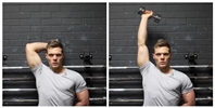 Standing One-Arm Dumbbell Triceps Extension